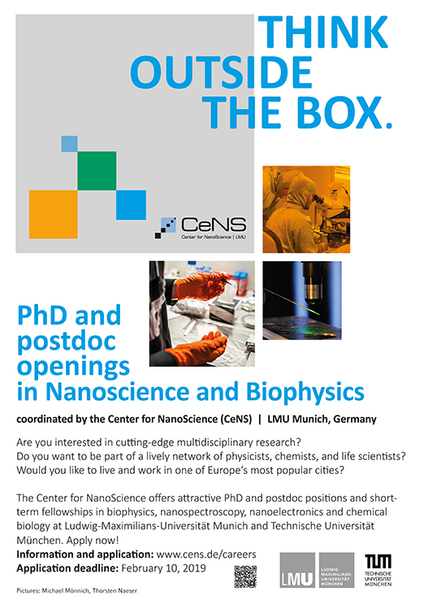 CeNS: International call for PhD students and Postdocs
